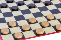 Checkers board game Stock Photo