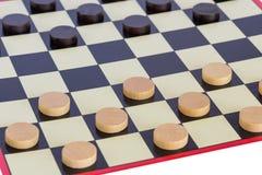 Checkers board game Stock Photo