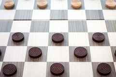 Checkers board game Stock Photos
