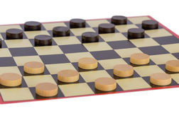 Checkers board game Stock Image