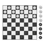 Checkers board game. Stock Photo
