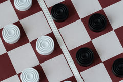 Checkers board game royalty free stock photo
