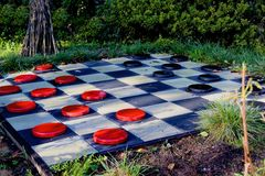 Checkers board Royalty Free Stock Photography
