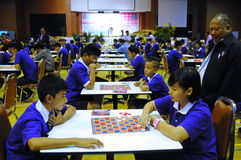 Checkers chalege in thailand Royalty Free Stock Photos