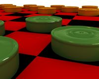 Checkers close-up Royalty Free Stock Photography