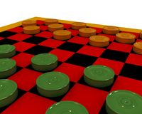 Checkers close-up Stock Images