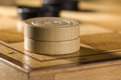 Checkers or draughts Stock Images