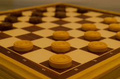 Checkers. A funny role game I used to play Royalty Free Stock Photo
