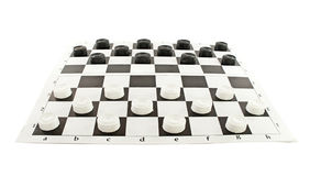 Checkers game. Set of checkers game, isolated on white royalty free stock photos