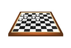 Checkers game Stock Images