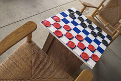 Checkers Game Stock Photo