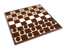 Checkers game board and pieces. 3D illustration Royalty Free Stock Image