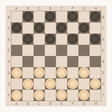Checkers game board vector illustration