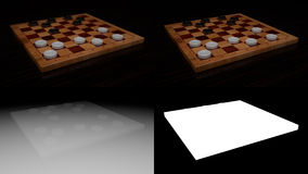 Checkers Game Board Stock Photography