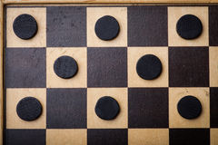 Checkers game detail royalty free stock photography