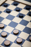 Checkers game detail Royalty Free Stock Images