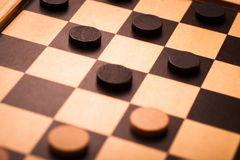 Checkers game detail stock image