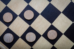 Checkers game detail royalty free stock photo
