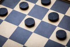 Checkers game detail stock photos