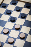 Checkers game detail stock photography