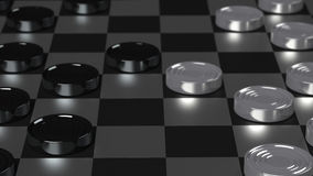 Checkers Game Modern Board Stock Images