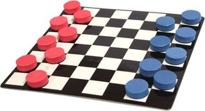 Checkers. Game photo on a white background isolate Royalty Free Stock Photo