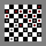 Checkers game in progress Royalty Free Stock Photos