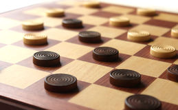 Checkers game set Royalty Free Stock Photo