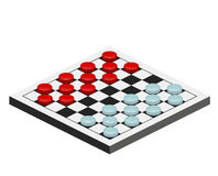 Checkers game. Set object. checkers are on the board Stock Images