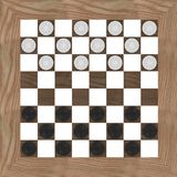 Checkers game from top Royalty Free Stock Images