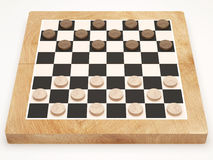 Checkers Game on white background Stock Photo