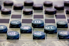 Checkers pieces Stock Images