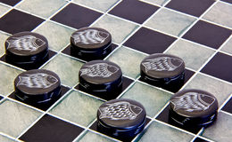 Checkers pieces Royalty Free Stock Photography