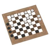 Checkers during play Stock Photography