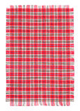 Checkerwork with Edging. Cotton fabric with Edging against white background Royalty Free Stock Photo