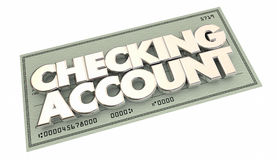 Checking Account Banking Money Words Stock Photography