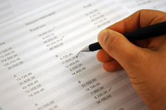 Checking the Accounts Stock Images