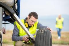 Checking aircraft's tire