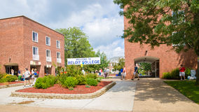 Checking in at Beloit College Stock Photo