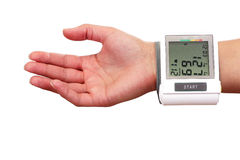 Checking the blood pressure Stock Photos
