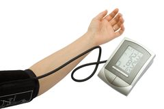 Checking the blood pressure Stock Images