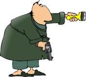 Checking for burglars Stock Photography