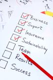 Checking business concepts. Checklist of things needed to start a business Royalty Free Stock Photos