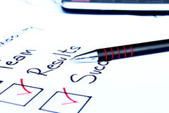 Checking business concepts. Checklist of things needed to start a business Stock Photos