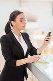 Checking business messages. Royalty Free Stock Image