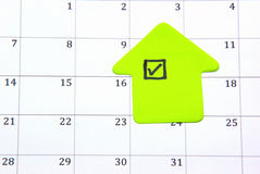 Checking calendar Royalty Free Stock Photo