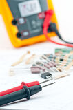 Checking Circuit by Multi-Meter Stock Images