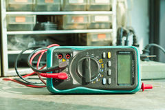 Checking Circuit by Multi-Meter. Stock Photography