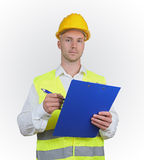 Checking clip board Royalty Free Stock Image