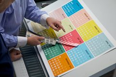 Checking Colour on press Stock Photos